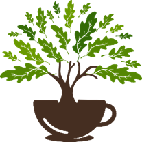 The voting tree business logo