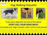 Poster explaining Dog Walking Etiquette