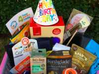 A hamper of dog goodies which could be won