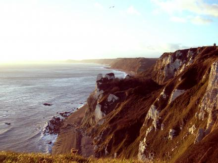 View of cliffs taken from coast path