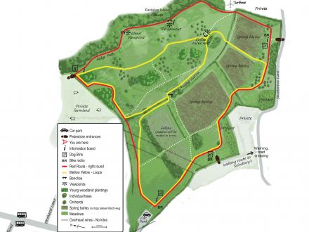 Map of Dawlish Countryside Park