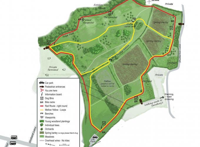 Map of Dawlish Countryside Park
