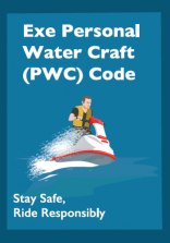 Illustration of a jet ski on the front cover of the Exe Personal Water Craft (PWC) Code